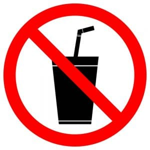 no soda and sugary drinks