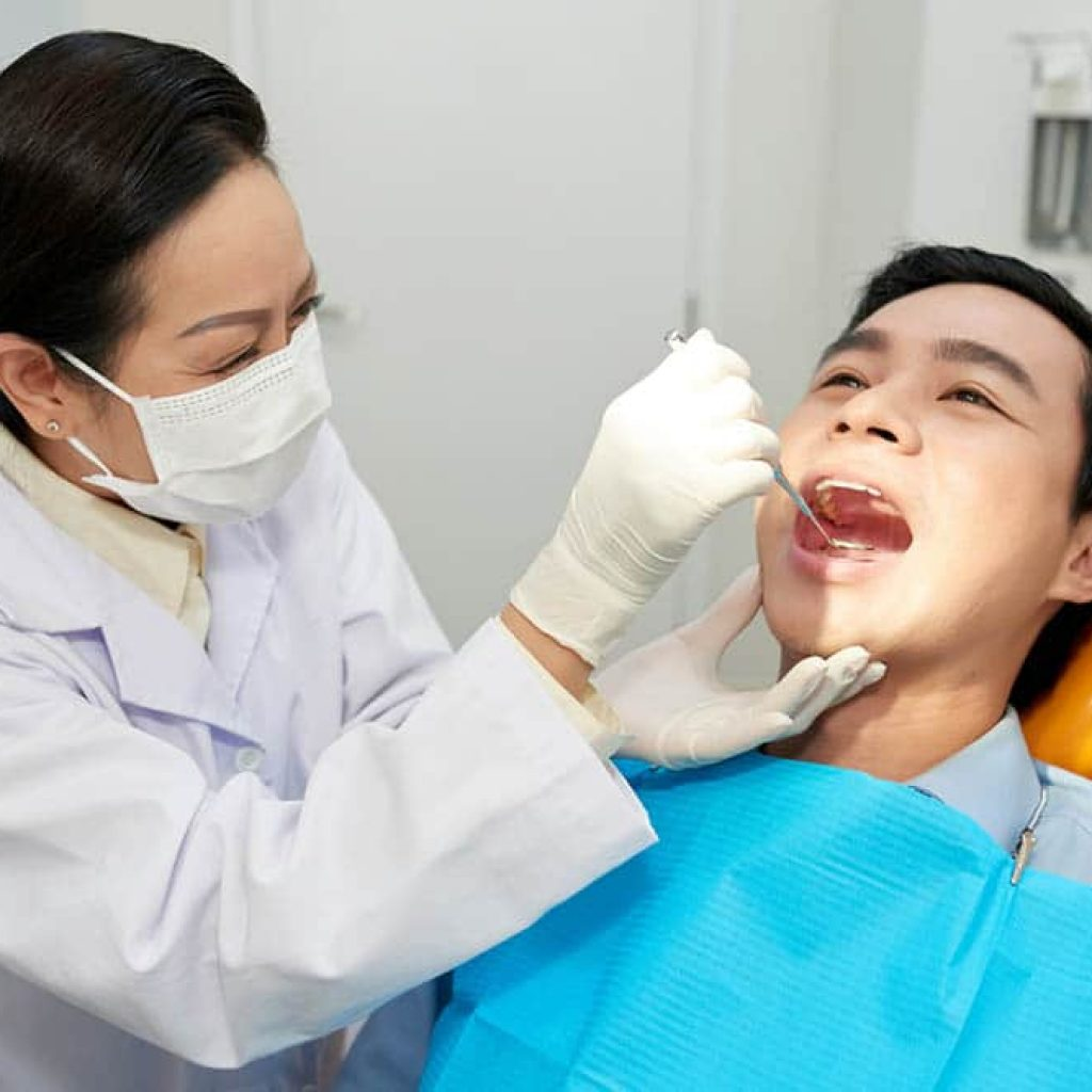 checking teeth condition